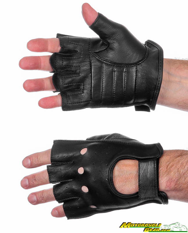 NEW Z1R 243 Leather Half Gloves